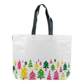 Bolsa Navidad Laminada Pinos